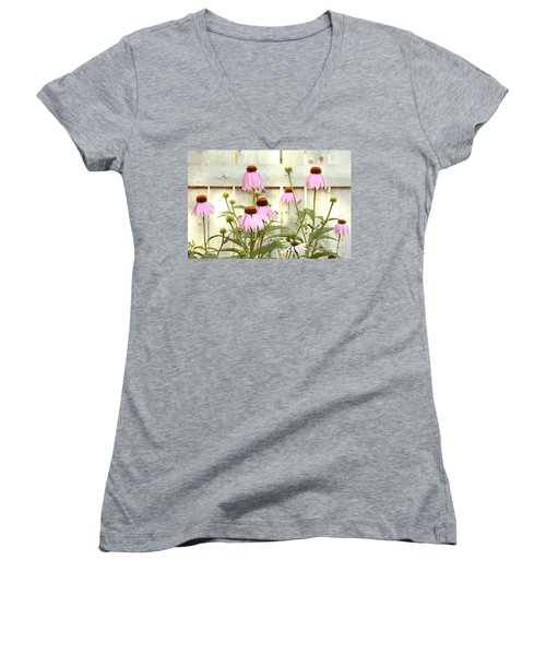 Coneflower Patch Women's V-Neck (Athletic Fit)