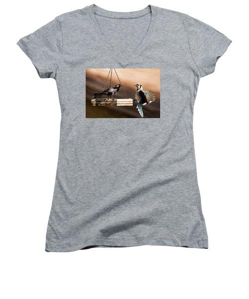Confrontation Women's V-Neck T-Shirt (Junior Cut)