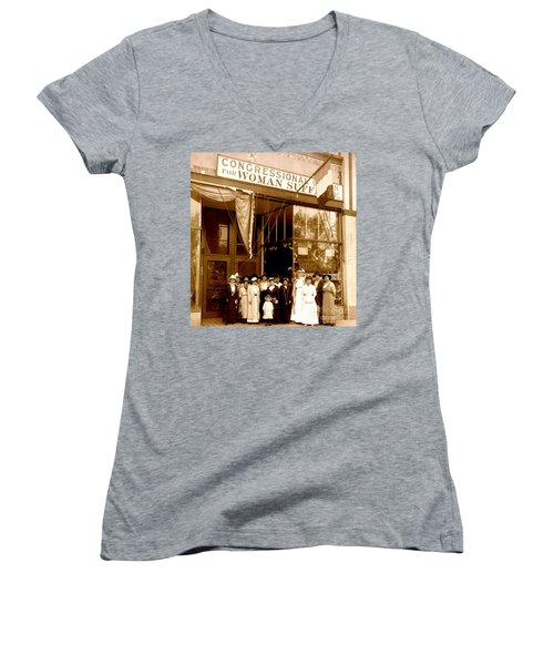 Congressional Union For Woman Suffrage Colorado Headquarters 1914 Women's V-Neck (Athletic Fit)
