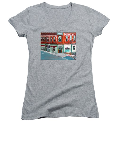 Connor Hotel In Jerome Women's V-Neck T-Shirt