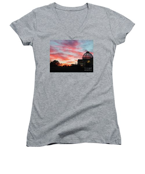Conservatory At Sunset Women's V-Neck T-Shirt