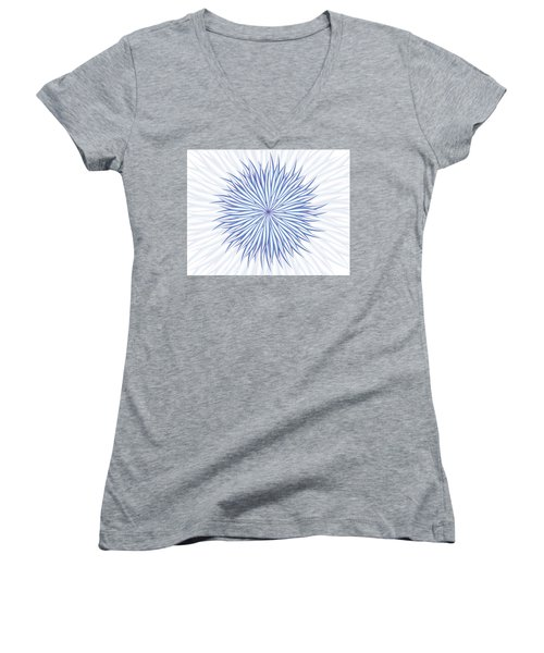 Women's V-Neck T-Shirt (Junior Cut) featuring the digital art Consontrate by Jamie Lynn