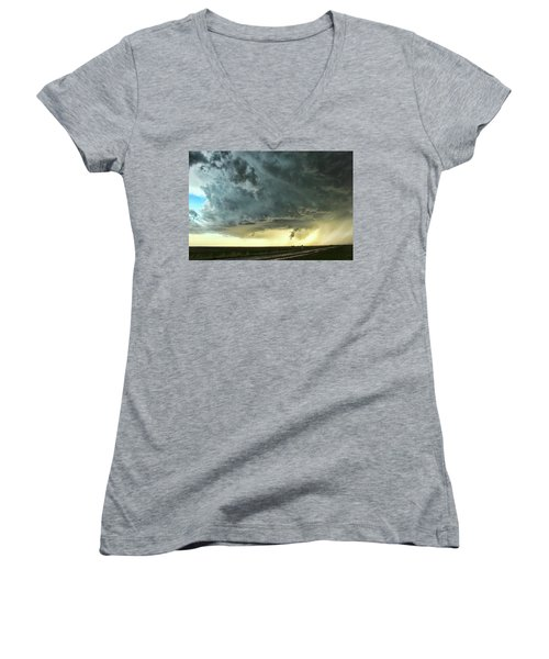Women's V-Neck T-Shirt (Junior Cut) featuring the photograph Consul Beast by Ryan Crouse