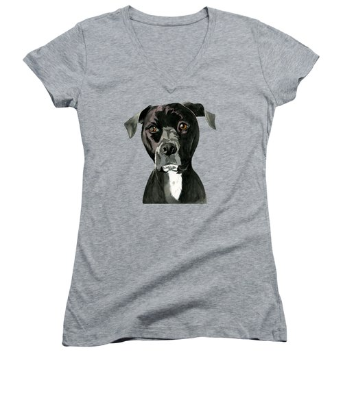 Contemplating Women's V-Neck (Athletic Fit)