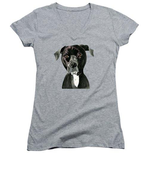 Contemplating Women's V-Neck T-Shirt
