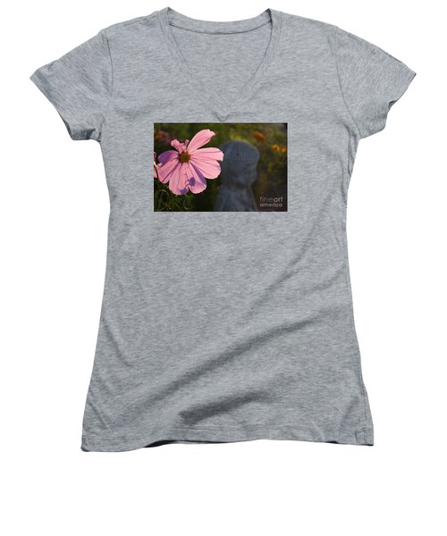 Women's V-Neck T-Shirt (Junior Cut) featuring the photograph Contemplating The Cosmo by Brian Boyle