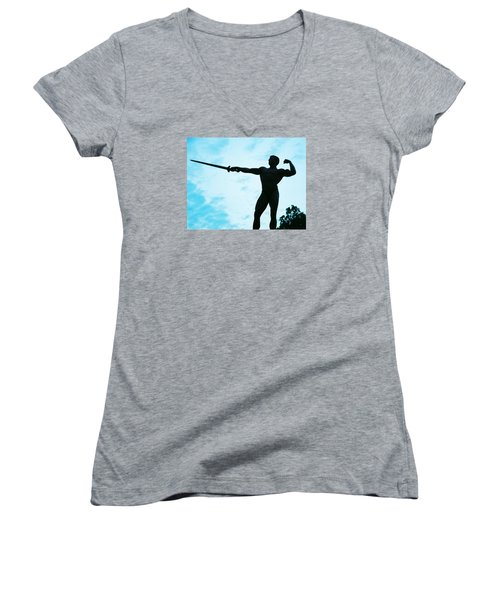 Contrast Women's V-Neck T-Shirt (Junior Cut) by Jake Hartz