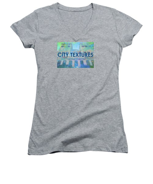 Cool City Textures Women's V-Neck T-Shirt