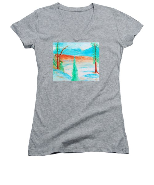 Cool Landscape Women's V-Neck (Athletic Fit)