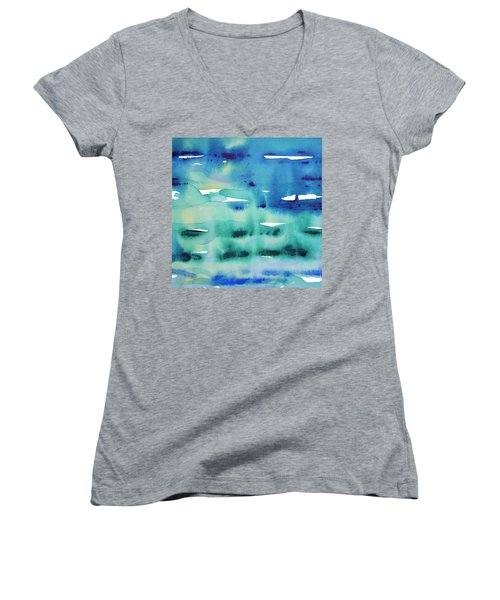 Cool Watercolor Women's V-Neck (Athletic Fit)
