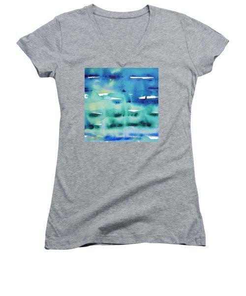 Cool Watercolor Women's V-Neck T-Shirt