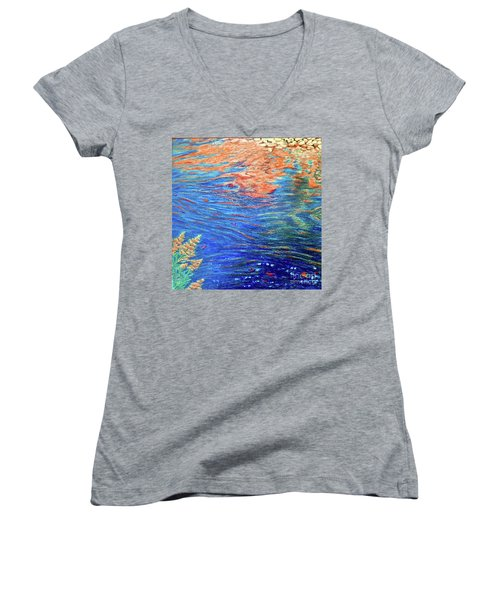 Copper Flow Women's V-Neck T-Shirt