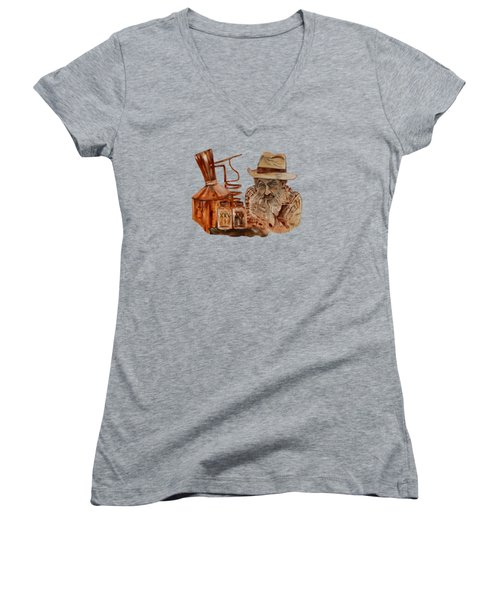 Coppershine Popcorn-transparent For T-shirts Women's V-Neck
