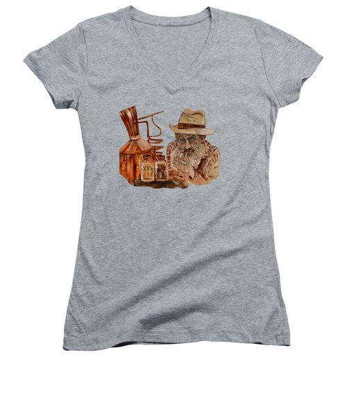 Coppershine Popcorn-transparent For T-shirts Women's V-Neck (Athletic Fit)