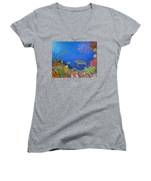 Coral Reef Women's V-Neck