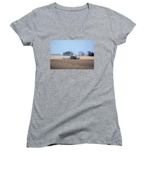 Corn Planting Women's V-Neck T-Shirt