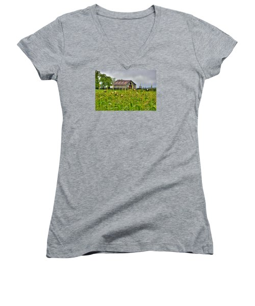 Corn Tops Women's V-Neck