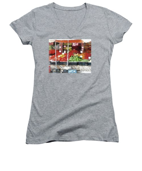 Corner Market Women's V-Neck (Athletic Fit)