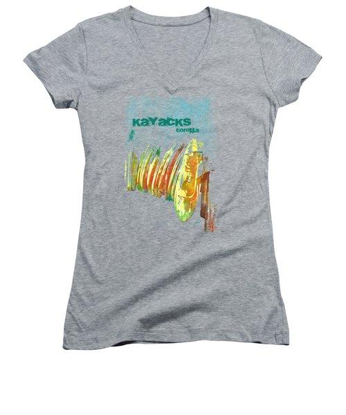Corolla Kayacks Women's V-Neck T-Shirt