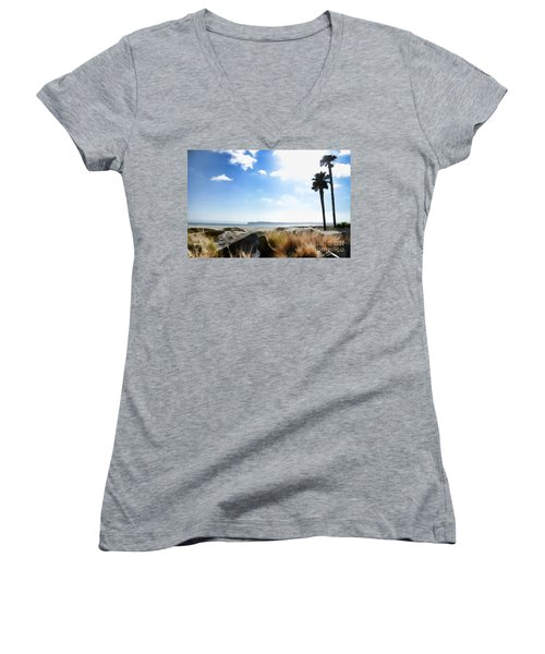 Coronado - Digital Painting Women's V-Neck T-Shirt (Junior Cut) by Sharon Soberon