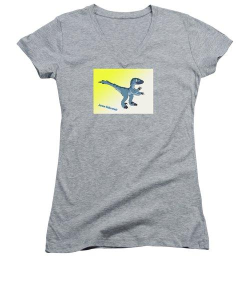 Cory The Raptor Women's V-Neck T-Shirt