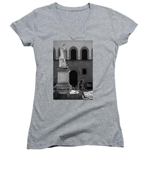 Women's V-Neck T-Shirt (Junior Cut) featuring the photograph Cosimo Ridolfi by Sonny Marcyan