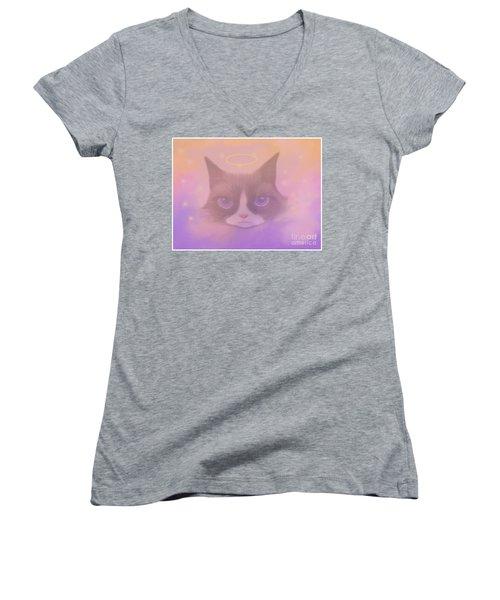 Cosmic Cat Women's V-Neck