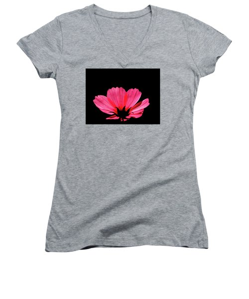 Cosmos Bloom Women's V-Neck (Athletic Fit)