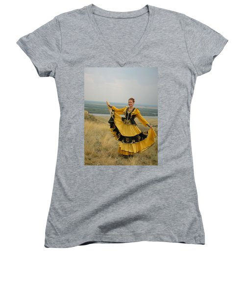 Cossack Young Woman Women's V-Neck