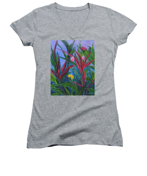 Costa Rica Women's V-Neck T-Shirt (Junior Cut) by Diane Arlitt
