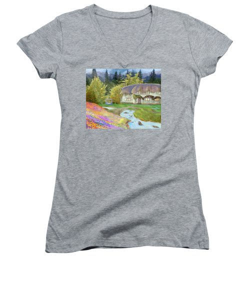 Cottage Women's V-Neck T-Shirt (Junior Cut)