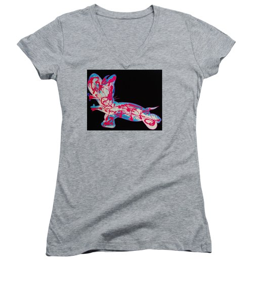 Cotton Candy Women's V-Neck (Athletic Fit)