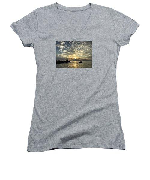 Cotton Clouds Women's V-Neck T-Shirt