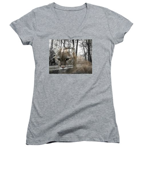 Cougar The Cunning One Women's V-Neck (Athletic Fit)