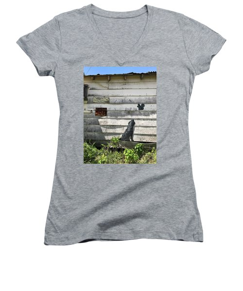 Country Art Women's V-Neck (Athletic Fit)