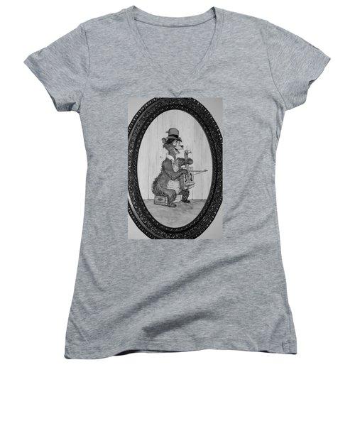Country Bear Women's V-Neck T-Shirt (Junior Cut) by Rob Hans