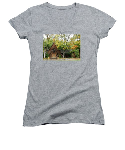Country Chapel Women's V-Neck T-Shirt