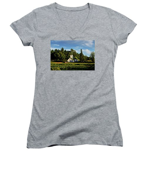 Country Church 003 Women's V-Neck T-Shirt