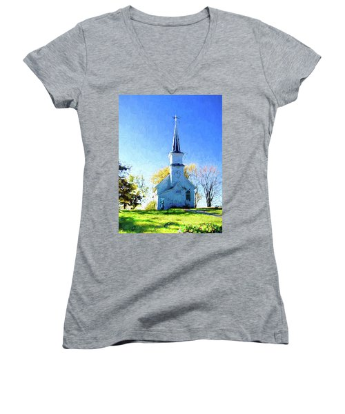 Country Church Women's V-Neck (Athletic Fit)