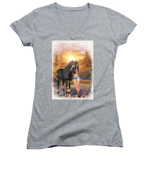 Country Memories 2 Women's V-Neck
