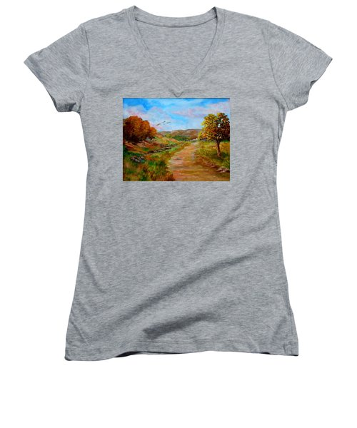 Country Road 2 Women's V-Neck (Athletic Fit)