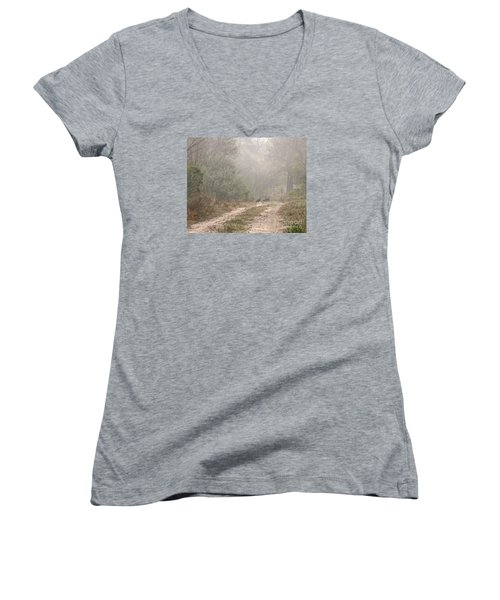 Country Road In The Morning Women's V-Neck