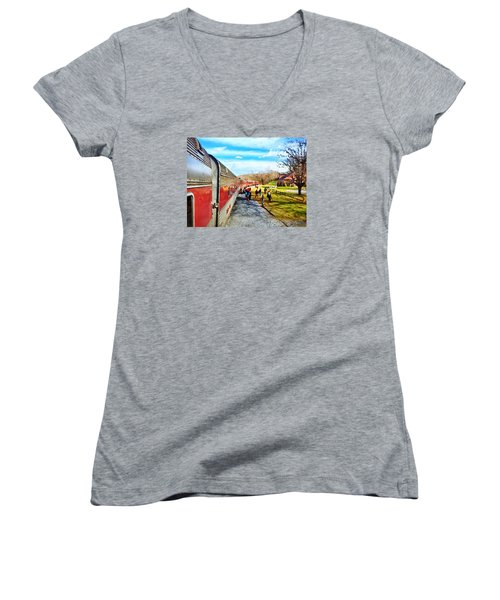 Country Train Depot Women's V-Neck
