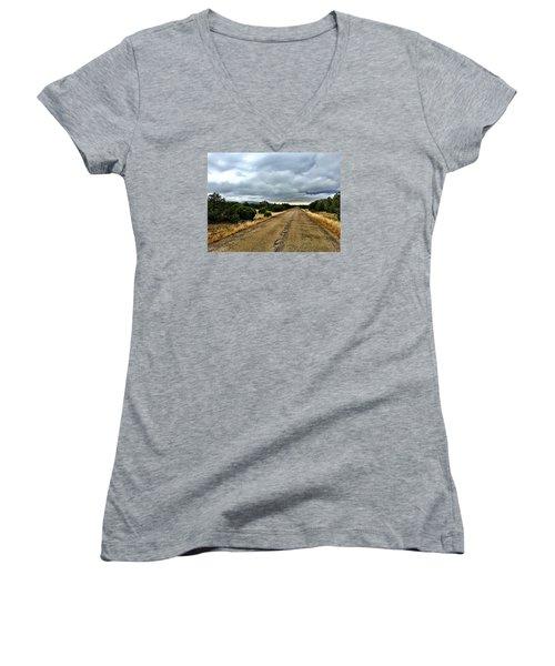 County Road Women's V-Neck T-Shirt
