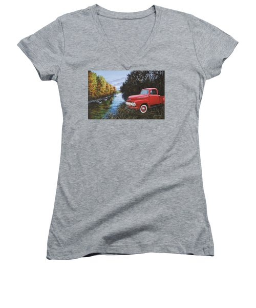 Couple Of Old Timers Women's V-Neck