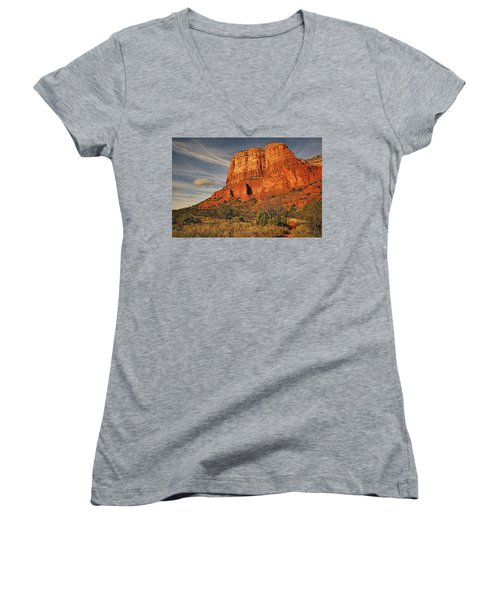 Courthouse Butte Txt Women's V-Neck
