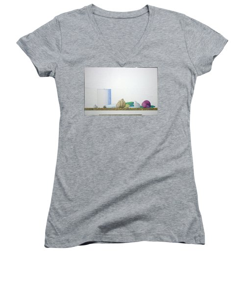 Women's V-Neck T-Shirt (Junior Cut) featuring the painting Coventry by A  Robert Malcom