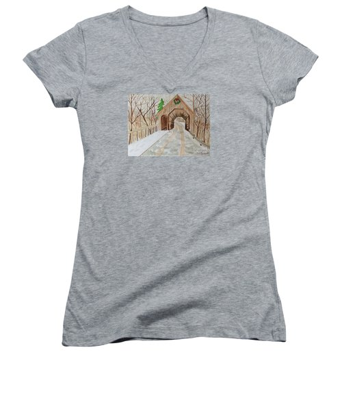 Covered Bridge Women's V-Neck T-Shirt