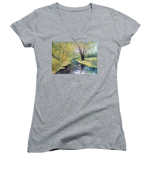 Covered Bridge Park Women's V-Neck (Athletic Fit)