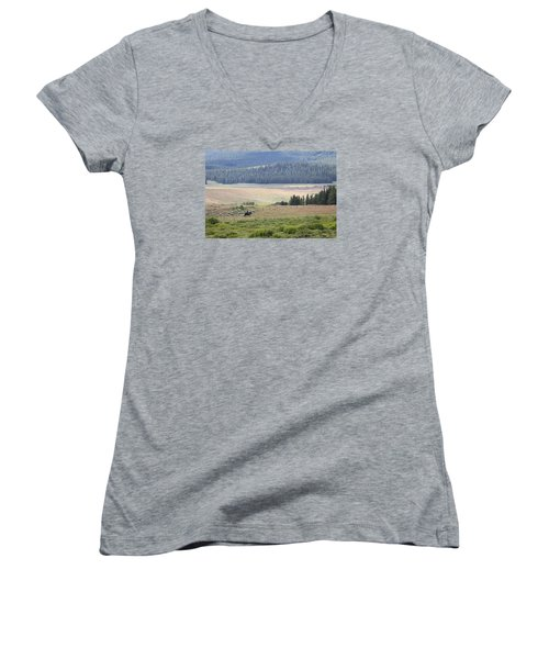 Cow Camp View Women's V-Neck